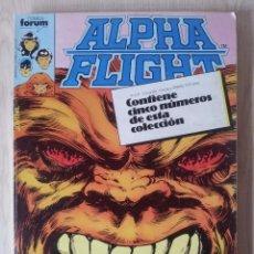 Cómics: ALPHA FLIGHT - RETAPADO - 5 NUMEROS - 6,7,8,9 Y 10 - MARVEL COMICS FORUM 1985. Lote 77412137
