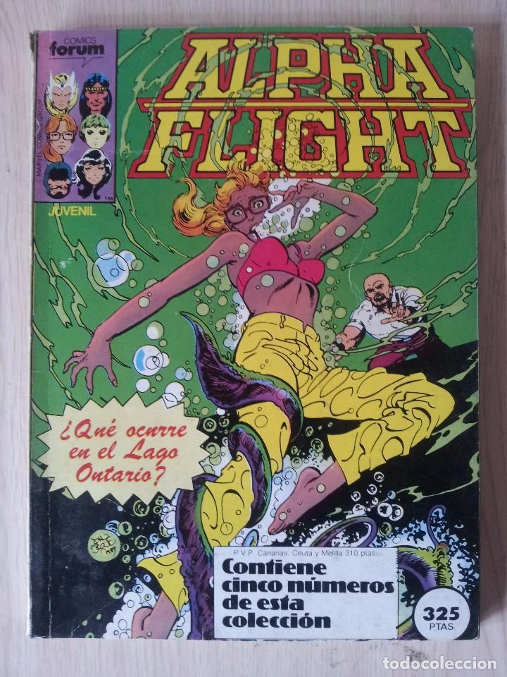 ALPHA FLIGHT - RETAPADO - 5 NUMEROS - 11,12,13,14 Y 15 - MARVEL COMICS FORUM 1985 (Tebeos y Comics - Forum - Retapados)