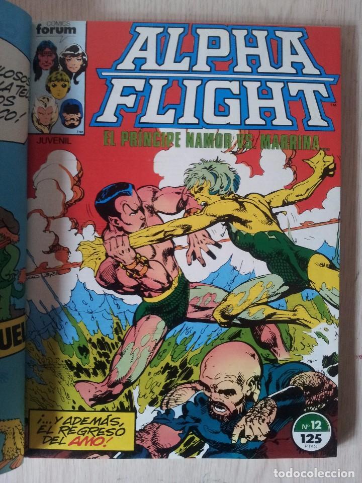 Cómics: ALPHA FLIGHT - RETAPADO - 5 NUMEROS - 11,12,13,14 Y 15 - MARVEL COMICS FORUM 1985 - Foto 4 - 77412341