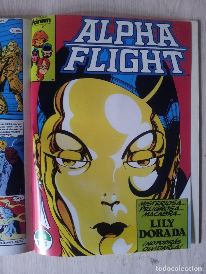 Cómics: ALPHA FLIGHT - RETAPADO - 5 NUMEROS - 11,12,13,14 Y 15 - MARVEL COMICS FORUM 1985 - Foto 10 - 77412341