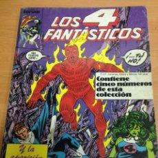 Cómics: COMIC RETAPADO LOS 4 FANTASTICOS FORUM VOL 1 CONTIENE 61 AL 65. Lote 78140121