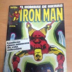 Cómics: TOMO RETAPADO IRON MAN EL HOMBRE DE HIERRO VOL 1 FORUM CONTIENE 31 AL 35. Lote 78157113