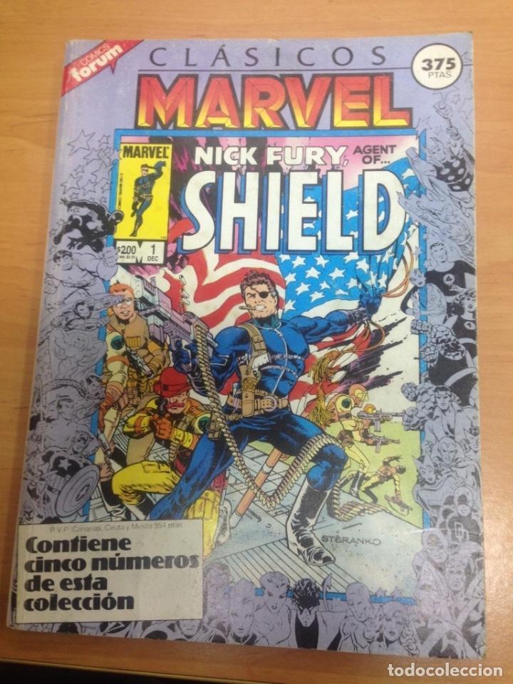 TOMO RETAPADO CLASICOS MARVEL FORUM VOL1 CONTIENE DEL 1 AL 5 (Tebeos y Comics - Forum - Retapados)