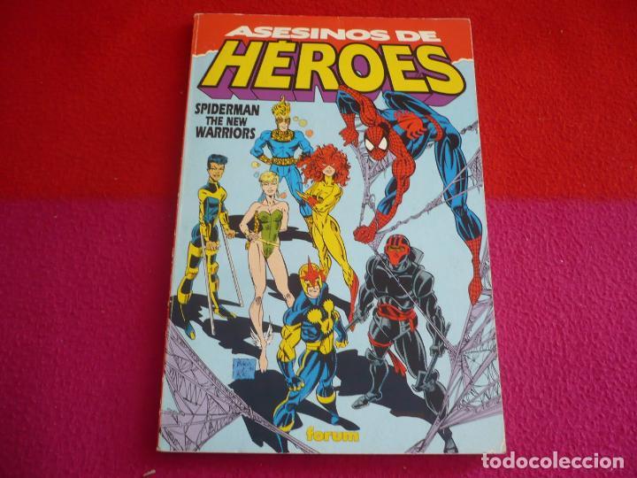 ASESINOS DE HEROES ( MICHELINIE SCOTT MCDANIEL ) SPIDERMAN NEW WARRIORS ¡BUEN ESTADO! MARVEL FORUM (Tebeos y Comics - Forum - Spiderman)