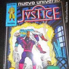 Cómics: JUSTICE Nº 10 - FORUM - NUEVO UNIVERSO -. Lote 79302213