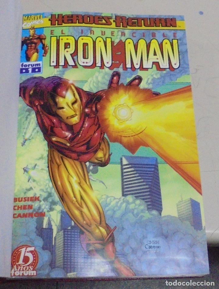 Cómics: IRON - MAN. VARIOS NUMEROS ENCUADERNADOS. FORUM 15 AÑOS. 1998. LEER - Foto 2 - 79750949