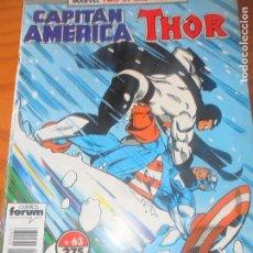 Cómics: CAPITAN AMERICA Y THOR, V.1 Nº 63 - FORUM . Lote 79764061