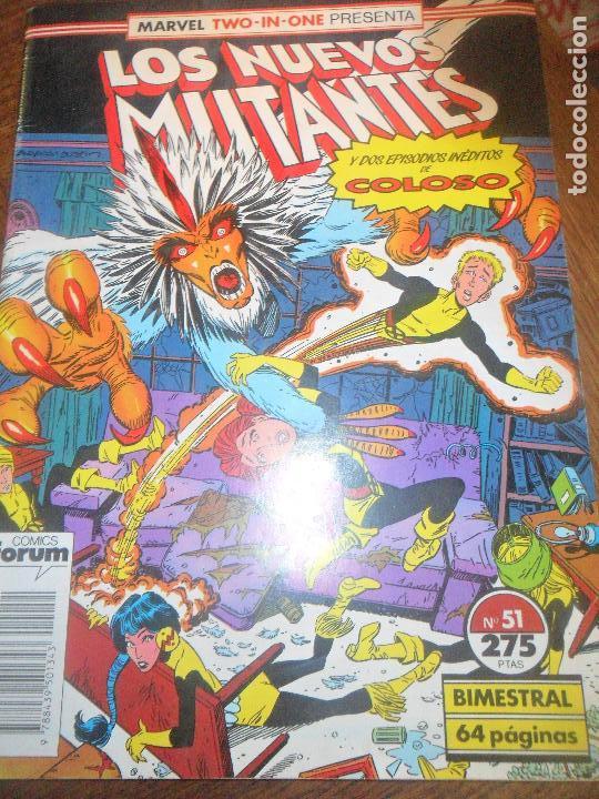 LOS NUEVOS MUTANTES V.1 Nº 51 - CON COLOSO, MARVEL TWO-IN-ONE - FORUM (Tebeos y Comics - Forum - Nuevos Mutantes)