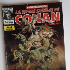Cómics: LA ESPADA SALVAJE DE CONAN Nº 8, CON CLAVOS ROJOS DE BARRY SMITH. Lote 82522828