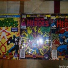 Cómics: MARVEL HÉROES LOTE 3 NÚMEROS CAPITÁN AMERICA. Lote 82826087