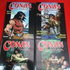 Cómics: CONAN EL PIRATA COLECCIÓN COMPLETA 4 TOMOS TAPA DURA CÓMICS FÓRUM. Lote 83251580