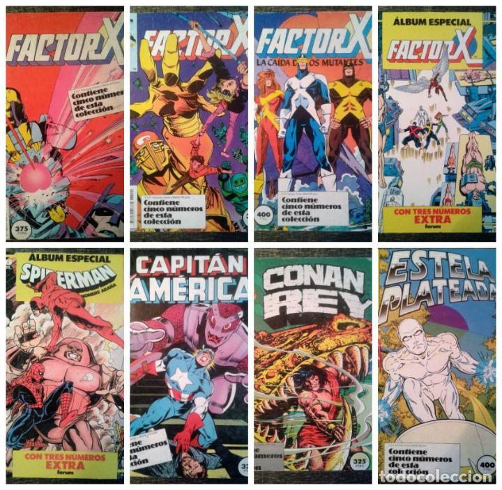 8 COMICS FORUM RETAPADOS FACTOR X, SPIDERMAN, CAPITÁN AMÉRICA, CONAN REY, ESTELA PLATEADA (Tebeos y Comics - Forum - Retapados)