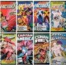 Cómics: 8 COMICS FORUM RETAPADOS FACTOR X, SPIDERMAN, CAPITÁN AMÉRICA, CONAN REY, ESTELA PLATEADA. Lote 66866054
