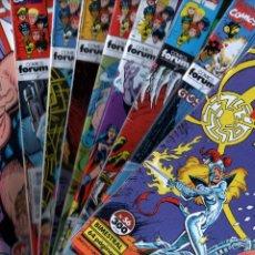 Cómics: LOS NUEVOS MUTANTES 10 ÚLTIMOS NºS - 56 AL 65 - FORUM 1991. Lote 83529712