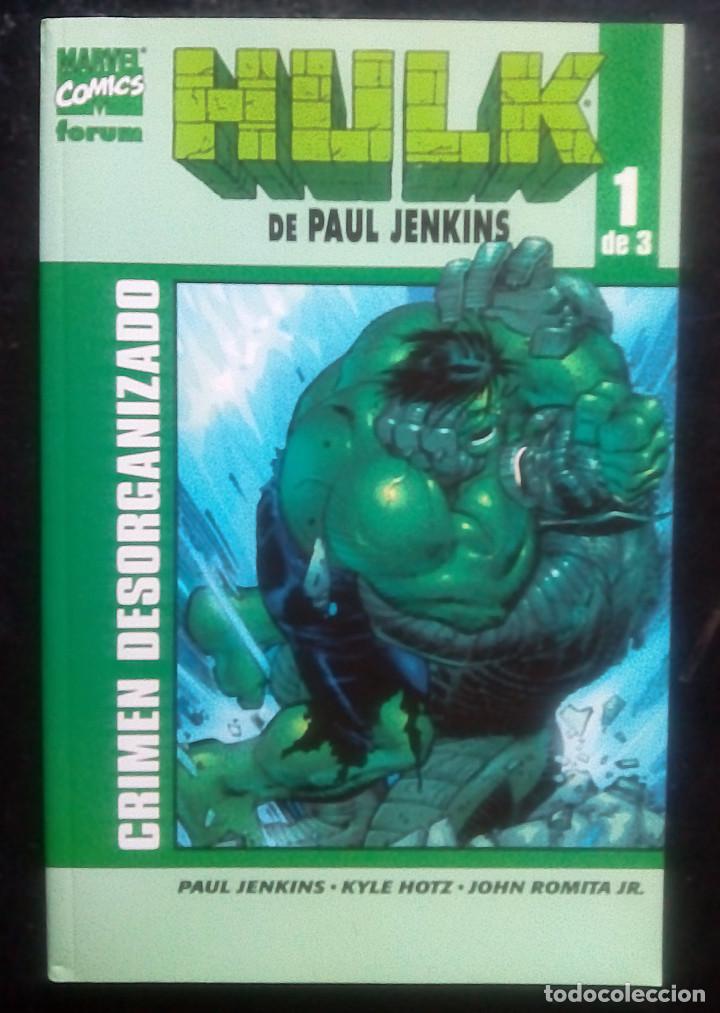 HULK COMPLETA DE 3 NÚM PAUL JENKINS MARVEL - FORUM CRIMEN DESORGANIZADO PASADO PERFECTO ESCALERA DE (Tebeos y Comics - Forum - Hulk)