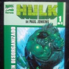 Cómics: HULK COMPLETA DE 3 NÚM PAUL JENKINS MARVEL - FORUM CRIMEN DESORGANIZADO PASADO PERFECTO ESCALERA DE. Lote 84317564