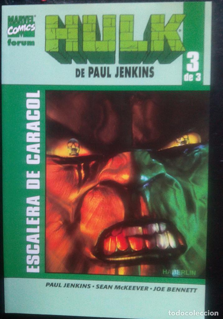 Cómics: HULK COMPLETA DE 3 NÚm PAUL JENKINS MARVEL - FORUM Crimen desorganizado Pasado perfecto Escalera de - Foto 3 - 84317564