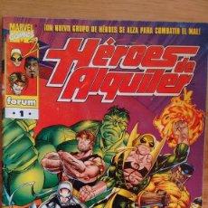 Cómics: HEROES DE ALQUILER FORUM Nº 1. Lote 84494112