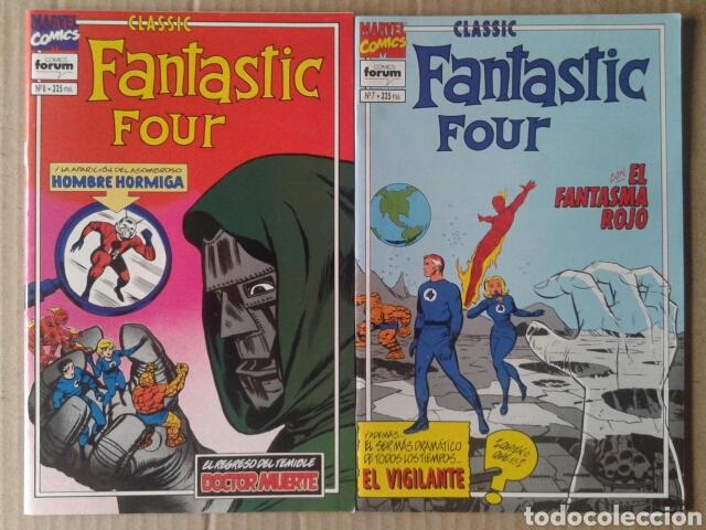 LOTE CLASSIC FANTASTIC FOUR, NÚMEROS 7 Y 8, DE STAN LEE Y JACK KIRBY. COMICS FORUM. (Tebeos y Comics - Forum - 4 Fantásticos)
