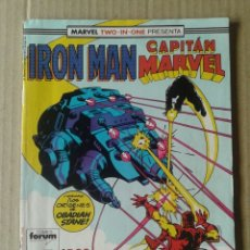 Cómics: IRON MAN / CAPITÁN MARVEL N°44. MARVEL TWO IN ONE / COMICS FORUM.. Lote 84505311