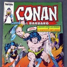 Cómics: CONAN EL BÁRBARO Nº 7 MUERTE ENTRE LAS RUINAS Y LA SERPIENTE EMPLUMADA EDICIONES FORUM 1983. Lote 84615224