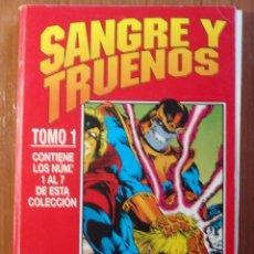 Cómics: SANGRE Y TRUENOS, (THOR) SERIE LIMITADA DE FORUM COMPLETA 7 COMICS EN UN TOMO. Lote 85229944