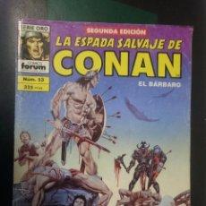 Cómics: FORUM -LA ESPADA SALVAJE DE CONAN EL BARBARO -N 53 --REF-HAULDEPUEMLACON. Lote 86502396