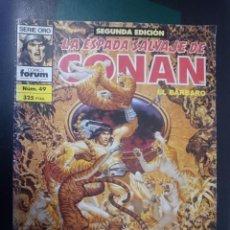 Cómics: FORUM -LA ESPADA SALVAJE DE CONAN EL BARBARO -N 49 --REF-HAULDEPUEMLACON. Lote 86502444