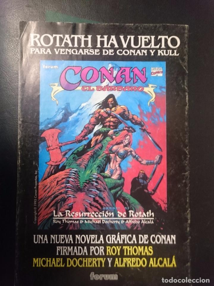Cómics: FORUM -CONAN EL AVENTURERO N 10 -LO QUE SURE... HA DE RAJAR - Foto 2 - 86503156