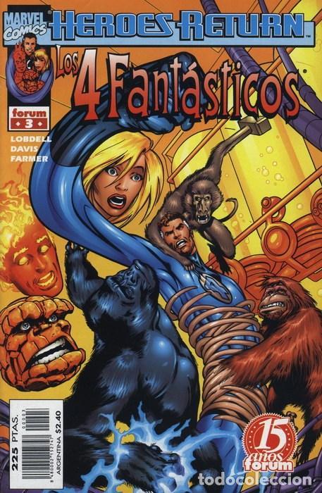4 FANTASTICOS VOL. 3 N° 3 HEROES RETURN - FORUM - EJEMPLAR NUEVO (Tebeos y Comics - Forum - 4 Fantásticos)