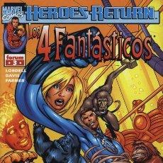 Cómics: 4 FANTASTICOS VOL. 3 N° 3 HEROES RETURN - FORUM - EJEMPLAR NUEVO. Lote 86739168