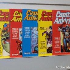 Cómics: CAPITAN AMERICA OBRA COMPLETA 25 NUMEROS EN 5 RETAPADOS - FORUM - . Lote 87366888
