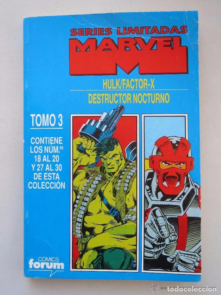 SERIES LIMITADAS MARVEL - TOMO 3 - HULK / FACTOR-X / DESTRUCTOR NOCTURNO - FORUM. (Tebeos y Comics - Forum - Retapados)