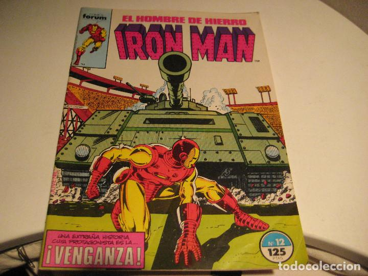 IRON MAN Nº12 Y VENGADORES Nº 18, FORUM, 1985, BUEN ESTADO (Tebeos y Comics - Forum - Iron Man)
