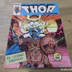 Cómics: THOR EL PODEROSO. EL ÚLTIMO VIKINGO. FORUM COMICS. Nº 29. 100 PTS.. Lote 87578148