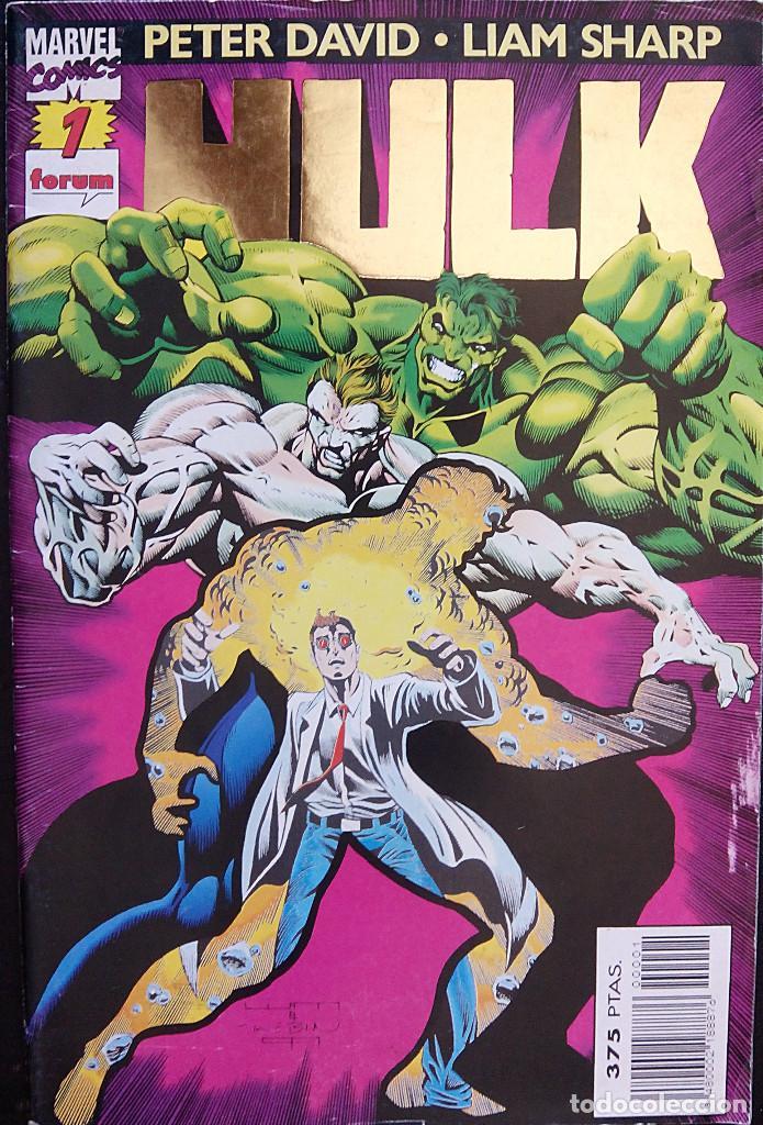 HULK PACK LOTE DEL Nº 1 AL Nº 7 DE PETER DAVID & LIAM SHARP FORUM COMICS FANTASMAS DEL FUTURO (Tebeos y Comics - Forum - Hulk)