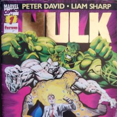 Cómics: HULK PACK LOTE DEL Nº 1 AL Nº 7 DE PETER DAVID & LIAM SHARP FORUM COMICS FANTASMAS DEL FUTURO. Lote 88758800
