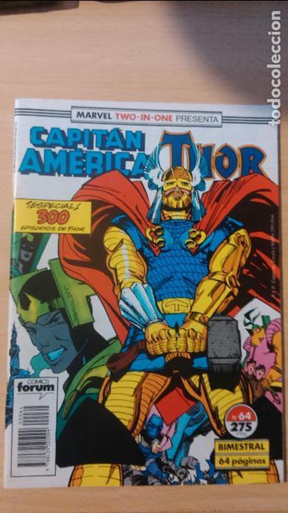 CAPITÁN AMÉRICA / THOR Nº 63 Y 64 FÓRUM (Tebeos y Comics - Forum - Capitán América)