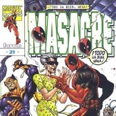 Cómics: MASACRE VOL.3 #21. Lote 116493783