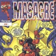 Cómics: MASACRE VOL.3 #22. Lote 116493790