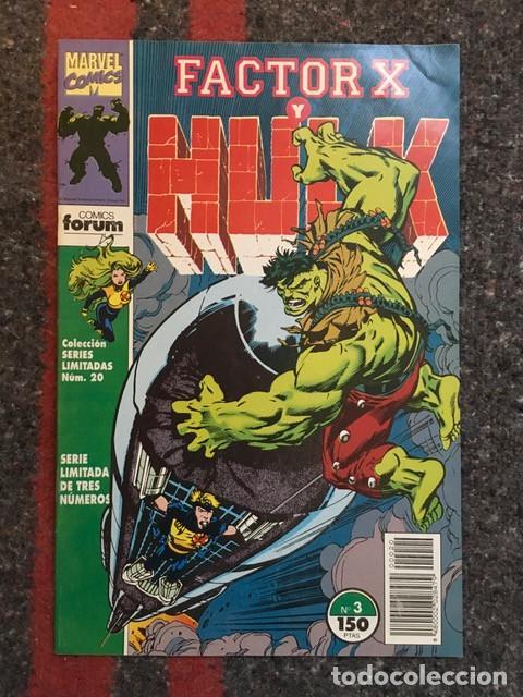 FACTOR X Y HULK - Nº 3 - COLECCIÓN SERIES LIMITADAS (Tebeos y Comics - Forum - Factor X)