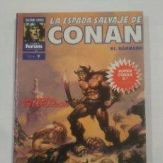 Cómics: LA ESPADA SALVAJE DE CONAN. EL BARBARO. SERIE ORO COMICS FORUM Nº 9. LA HORA DEL DRAGON. TDKC11. Lote 90967565
