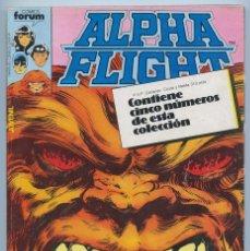 Cómics: ALPHA FLIGHT - RETAPADO - NºS 6-7-8-9-10 - COMICS FORUM - 1986. Lote 90991020