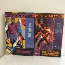 Cómics - ARCHIVOS X-MEN #3 ARCÁNGEL-#4 SCOTT SUMMERS-TAPA BLANDA-FORUM - 92871755