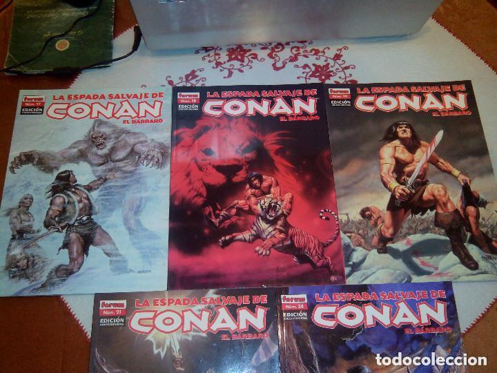 Cómics: La espada salvaje de Conan coleccionista coleccionistas lote de 24 numeros distintos. Ver fotos - Foto 11 - 94039250