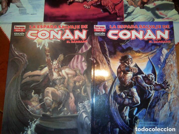 Cómics: La espada salvaje de Conan coleccionista coleccionistas lote de 24 numeros distintos. Ver fotos - Foto 12 - 94039250