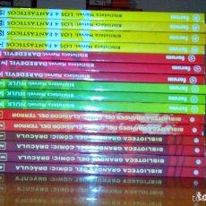 Comics - BIBLIOTECA MARVEL 4 FANTÁSTICOS HULK DAREDEVIL GRANDES DEL CÓMIC DRÁCULA Y TERROR. buen precio - 94150930