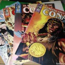 Cómics: EL REINO SALVAJE DE CONAN NÚMEROS 1, 2 ,3 Y 4. Lote 94373508