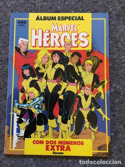 MARVEL HÉROES ÁLBUM ESPECIAL CON DOS ESPECIALES - NUEVOS MUTANTES NOVELA GRÁFICA Y SILVER SURFER (Tebeos y Comics - Forum - Nuevos Mutantes)