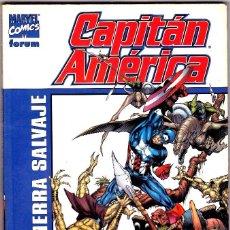 Cómics: TOMO CAPITAN AMERICA EN LA TIERRA SALVAJE DAN JURGEN-ANDY KUBERT FORUM. Lote 94483650